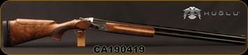 "Huglu - 12Ga/2.75""/32"" - Model HT-14 - Grade 3 Select Turkish Walnut Adjustable Stock/Silver Receiver/Chrome-Lined Barrels, Ejectors, Vent Rib, Adjustable Trigger, SKU# 8682109400015A, S/N CA190419"