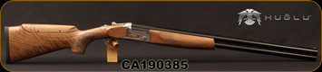 "Huglu - 12Ga/3""/28"" - S12E - Full Size Over/Under - Turkish Walnut Monte Carlo Stock w/Adjustable Comb/Silver Receiver/Chrome-Lined Barrels, Ejectors, SKU# 8681715390840, S/N CA190385"