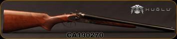 "Huglu - 12Ga/3""/20"" - 201HRZ - Turkish Walnut/Blued barrel/Case Hardened Receiver, Double Trigger, HRZ Hammer, Standard Stock, SKU# 8681715392202, S/N CA190270"