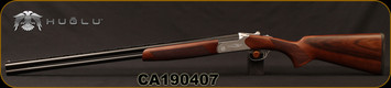 "Huglu - 28Ga/2.75""/28"" - Hawk - O/U - Extractors - Turkish Walnut/Hand-Engraved Silver Receiver/Chrome-Lined Barrels, 8mm Vent Rib, SKU: 8682109401029, S/N CA190407"