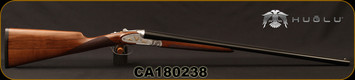 "Huglu - 28Ga/2.75""/26"" - 201A - SxS Double Trigger - Turkish Walnut English Straight Stock/Silver Receiver w/Gold inlay birds/Blued barrels, 5pc. Mobile Choke System, SKU# 8681744307383, S/N CA180238"