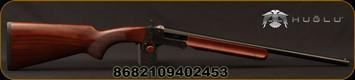 "Huglu - 28Ga/3""/20"" - 301A Mini - Single Shot - Turkish Walnut/Case Hardened Receiver/Blued Barrel, Fixed Full"