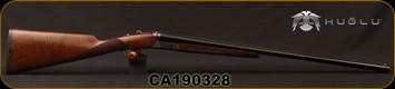 "Huglu - 28Ga/2.75""/26"" - Model 202B Mini - SXS - Turkish Walnut English Stock/Case Hardened/Blued Barrels, Double Trigger, 5pc. Mobile Choke, SKU# 8681715394800, S/N CA190328"