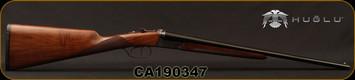 "Huglu - 410Ga/3""/20"" - Model 202B Mini - SXS - Turkish Walnut English Stock/Case Hardened/Blued Barrels, Double Trigger, 5pc. Mobile Choke, SKU# 8682109402392, S/N CA190347"