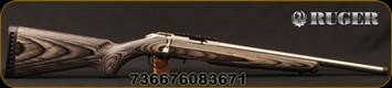 "Ruger - 22LR - American Rimfire Target - Grey Laminate Stock/Satin Stainless, 18""Heavy Threaded(1/2""-28)Barrel, flush-mounted JMX-1, 10-round rotary magazine, Ruger Marksman Adjustable trigger, Mfg# 08367"