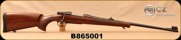 "CZ - 9.3x62 - Model 550 Medium Lux - Bolt Action Rifle - Turkish Walnut/Blued, 23.6""Barrel, Hooded Front Sight, Adjustable Rear Sight, 3rd Hinged Floorplate, S/N B865001"