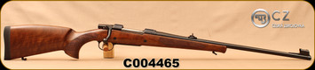 "CZ - 9.3x62 - Model 550 Medium Lux - Bolt Action Rifle - Turkish Walnut/Blued, 23.6""Barrel, Hooded Front Sight, Adjustable Rear Sight, 3rd Hinged Floorplate, S/N C004465"