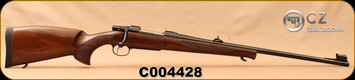 "CZ - 9.3x62 - Model 550 Medium Lux - Bolt Action Rifle - Turkish Walnut/Blued, 23.6""Barrel, Hooded Front Sight, Adjustable Rear Sight, 3rd Hinged Floorplate, S/N C004428"