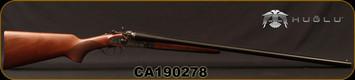 "Huglu - 12Ga/3""/30"" - 201HRZ - Turkish Walnut/Blued barrel/Case Hardened Receiver, Double Trigger, HRZ Hammer, Standard Stock, SKU# 8681715392240, S/N CA190278"