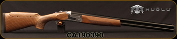 "Huglu - 12Ga/3""/26 - S12E - Ladies/Youth O/U - Turkish Walnut Monte Carlo Stock w/Adjustable Comb/Silver Receiver/Chrome-lined barrels, M Choke, SKU# 8681715390833, S/N CA190390"