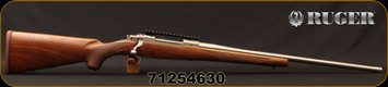 "Ruger - 30-06Sprg - M77 Hawkeye Hunter - American Walnut Stock/Stainless, 22""Threaded(5/8-24)Barrel, 20 MOA Picatinny rail, Mfg# 57108, S/N 71254630"