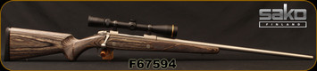 "Used - Sako - 338WM - Model 85 Grey Wolf - Bolt Action Rifle - Grey Laminate Stock/Stainless, 24.5""Barrel, c/w Leupold VX-III, 3.5-10x40mm, Boone & Crockett Reticle, original box"