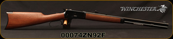 "Winchester - 44-40Win - Model 1892 Short - Lever Action Rifle - Grade I Black Walnut Stock/Blued, 20"" Barrel, 10 Rounds, Mfg# 534162140, S/N 00074ZN92F - Consecutive S/N Available"