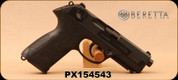"Consign - Beretta - 9mm - Model PX4 Storm - SA/DA Semi-Auto - Black Modular, 4.2""Barrel, Integral Picatinny rail, 3-dot sight system, c/w 3 magazines - Only 20 rounds fired - In original case"