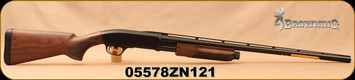 "Browning - 12Ga/3""/28"" - BPS Field - Pump Action Shotgun - Satin Walnut Stock/Matte Blued Finish, 4 Rounds (2 3/4""), Mfg# 012286304, S/N 05578ZN121"