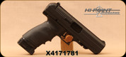 "Consign - Hi-Point - 45ACP - JHP - High-Impact Polymer Frame Pistol - Black Finish, 4.5""Barrel, Pachmayr Slip-On Grip, c/w (2) 9 round magazines"