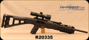 "Consign - Hi-Point - 45ACP - Model 4595 Carbine - Black All-weather, polymer skeletonized stock/Blued, 17.5""barrel, c/w UUQ 3-9X40 Compact Tactical Rifle Scope R&G Illuminated Mil Dot Reticle, (3) 9rd magazines - Restricted - Only 150 rounds fired"