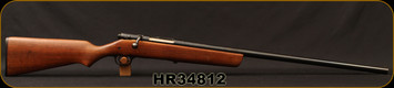 "Consign - H&R - 12Ga/2.75""/28"" - Model 348 Gamester - Bolt Action Shotgun - Walnut Stock/Blued"