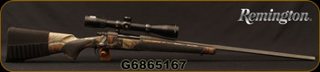 "Used - Remington - 300RUM - Model 700 XHR - Bolt Action Rifle - Realtree AP HD camo synthetic stock/satin black oxide, 26""Barrel, c/w  Bushnell Elite 6500, 2.5 x16-42 DOA 600 Reticle"
