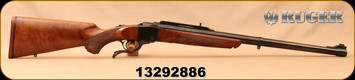"Used - Ruger - 458WinMag - No.1-H - Single Shot Rifle - High Grade American Walnut/Blued, 24""Heavy barrel, Alexander Henry Forend c/w 1""Ruger Rings"