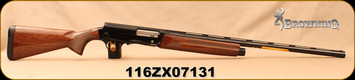 "Browning - 12Ga/3""/28"" - A5 Hunter - Kinematic Drive System Semi-Auto - Grade I Gloss Turkish Walnut Stock/Blued, Invector-DS Flush, Mfg# 0118003004, S/N 116ZX07131 - Brand new firearm missing original case - Stored in Used A5 case with all accessori"