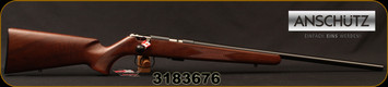"Anshultz - 22LR - 1416 D HB Classic - Walnut Stock/Blued, 23""Barrel, Mfg# 009980, S/N 3183676"