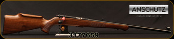 "Anschutz - 22LR - Model 1710 D KL - Bolt Action Rimfire Rifle - Walnut Monte Carlo Stock/Blued, 23""Barrel, Mfg# 000439, S/N 3177659"