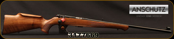 "Anschutz - 22LR - Model 1710 D KL - Bolt Action Rimfire Rifle - Walnut Monte Carlo Stock/Blued, 23""Barrel, Mfg# 000439, S/N 3177669"
