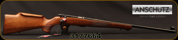 "Anschutz - 22LR - Model 1710 D KL - Bolt Action Rimfire Rifle - Walnut Monte Carlo Stock/Blued, 23""Barrel, Mfg# 000439, S/N 3177664"
