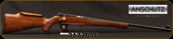 "Anschutz - 22LR - Model 1710 D KL - Bolt Action Rimfire Rifle - Walnut Monte Carlo Stock/Blued, 23""Barrel, Mfg# 000439, S/N 3177656"