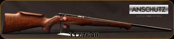 "Anschutz - 22LR - 1712 Silhouette Sporter - Walnut Monte Carlo Stock/Blued, 22""Barrel, two-stage trigger, Mfg# 007594, S/N 3177648"