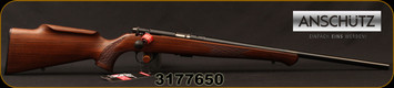 "Anschutz - 22LR - 1712 Silhouette Sporter - Walnut Monte Carlo Stock/Blued, 22""Barrel, two-stage trigger, Mfg# 007594, S/N 3177650"