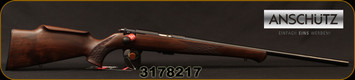 "Anschutz - 22LR - 1712 Silhouette Sporter - Walnut Monte Carlo Stock/Blued, 22""Barrel, two-stage trigger, Mfg# 007594, S/N 3178217"