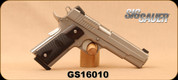 "Consign - Sig Sauer - 45ACP - GSR 1911 Stainless - Custom Blackwood Grips/Stainless, 5""Barrel, Mfg# 1911-45-SSS, c/w 2 mags - In original case - Only 100rds fired"