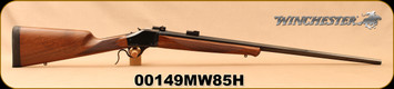 "Used - Winchester - 7mmWSM - Model 1885 High Wall Hunter - Single Shot Lever Action - Black Walnut Straight Grip Stock w/classic Schnabel forearm/Blued, 28""Octagonal Barrel, Pachmayr Decelerator recoil pad - Very low rounds - In original box w/papers"