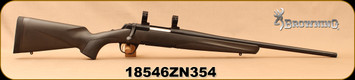 "Consign - Browning - 308Win - X-Bolt Micro-Composite - Bolt Action Rifle - Black Synthetic/Blued, 20""Barrel, 2 magazines, 1""Talley Rings - Less than 30 rounds fired - In original box"