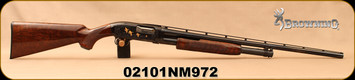 """Used - Browning - 28Ga/2.75""""/26"""" - Model M-12 - Pump Action - Grade 5 Walnut/Engraved Receiver/Blued, Modified Choke - In original box"""