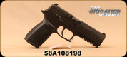 """Used - Sig Sauer - 9mm - Model P320 - Semi-Auto Pistol - Black Modular Polymer Grip/Nitron, 4.7""""Barrel, Upgrade Competition Trigger, (2)10 Round Magazine, Accessory Rail, Mfg# P320F-9-B-10 - In original case - Very low rounds fired"""