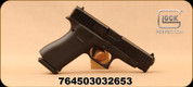 "Glock - 9mm - Model G48 - Black compact Slimline frame/nDLC Finish, 4.17""Barrel, (2) Magazines, Contrast White Dot/Bracket Sights, Mfg# PA4850201"