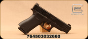 "Glock - 9mm - Model G48 - Black compact Slimline frame/nDLC Finish, 4.17""Barrel, (2) Magazines, Ameriglo Bold Night Sights, Mfg# PA4850301AB"