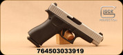 "Glock - 9mm - Model G48 - Black compact Slimline frame/Silver Slide, 4.17""Barrel, (2) Magazines, Glock Night Sights, Mfg# UA485SL701"