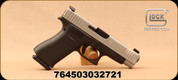 "Glock - 9mm - Model G48 - Black compact Slimline frame/Silver Slide, 4.17""Barrel, (2) Magazines, Ameriglo Bold Night Sights,Mfg# PA485SL301AB"
