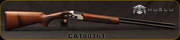 "Huglu - 20Ga/3""/28"" - 103F - O/U, Turkish Walnut/Black & Silver Reciever w/gold inlay birds/Blued Barrel, single trigger, 5pc. Mobile Choke, SKU# 8681744309035, S/N CA180161"