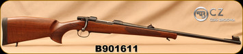 "Used - CZ - 270Win - Model 550 Medium Lux - Bolt Action Rifle - Turkish Walnut/Blued, 23.6""Barrel, 1:10""Twist, Hooded Front Sight, Adjustable Rear Sight, 5rd Hinged Floorplate, S/N B901611"