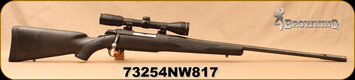 "Consign - Browning - 7mmRemMag - A-Bolt - Black Synthetic Stock (cracked)/Blued, 24""Barrel(26""w/Boss Barrel Enhancer), Bushnell Elite 3200, 3-9x40mm, Duplex Reticle, Less than 200 rounds fired"