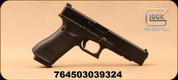 "Glock - 9mm - Model G34 Gen5 MOS - Semi-Auto Pistol, Black Modular Grips w/interchangeable Backstrap, nDLC Finish, 5.31"" Barrel, 10 Rounds, White dot front sight, Adjustable White-Outline rear sight, Mfg# UA343S101MOS"