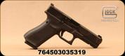 "Glock - 9mm - G17 Gen5 MOS - Semi-Auto Pistol - Black Polymer w/Interchangeable Backstrap/nDLC slide, 4.49"" Barrel, 10 Rounds, Glock Night Sights, Optics Ready, Mfg# UA175S701MOS"