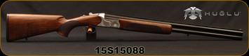 "Huglu - 12Ga/3""/26"" - S112TE - O/U - Ejectors - Turkish Walnut/Silver Hand-Engraved Receiver/Blued, Sling Swivel Studs, 5pc. Mobile Choke, Sku: 8681715390284, S/N 15S15088"