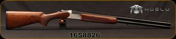 "Huglu - 12Ga/3""/28"" - 103C - O/U - Extractors - Turkish Walnut/ Silver Receiver w/Gold inlaid birds/Blued, 5pc. Mobile Choke, Sling Swivel Studs, Sku: 8681715390215, S/N 16S8826"