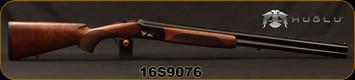 "Huglu - 12Ga/3""/28"" - 103C - O/U - Extractors - Turkish Walnut/Black Receiver w/Gold Inlaid Birds/Blued, 5pc. Mobile Choke, Sling Swivel Studs, Sku: 8681715390239, S/N 16S9076"